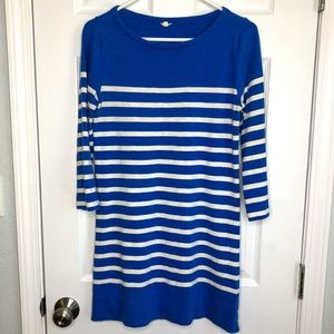 J. Crew Size XS Blue White Stripe Dress Zippers